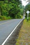 Forest road at Khaoyai National Park Royalty Free Stock Image