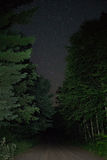 Forest Road Night Sky Royalty Free Stock Images