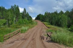 Forest Road. Off-road in Russia. royalty free stock photos