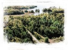 Forest Road And River Drawing Royalty Free Stock Photography
