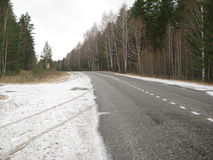 Forest road on Russia Stock Images