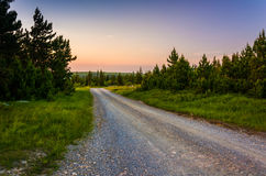 Forest Road 75 at sunset, in Dolly Sods Wilderness, Monongahela Stock Photos