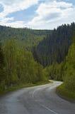 Forest road. In the taiga in Buryatia Stock Photos