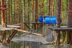 Forest Rope Park Challenge Arkivfoto