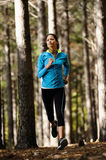 Forest running woman Royalty Free Stock Photos