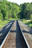 Forest And Rural Train Tracks foto de stock