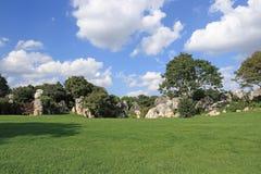 Forest Scenic Area de piedra Imágenes de archivo libres de regalías