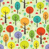 Forest seamless background Stock Photography