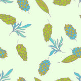 Forest seamless patter. Forest vector floral seamless pattern Royalty Free Stock Images