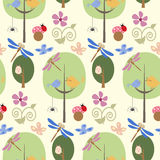 Forest seamless pattern Royalty Free Stock Images