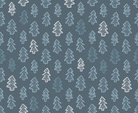 Forest seamless pattern background. Abstract pine tree forest seamless pattern background Royalty Free Stock Photography