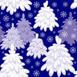 Forest seamless pattern. Christmas seamless pattern with the image of a fairy-tale winter forest royalty free illustration