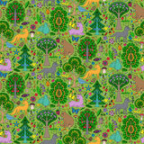Forest seamless pattern Royalty Free Stock Photos