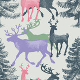 Forest seamless pattern Stock Photos