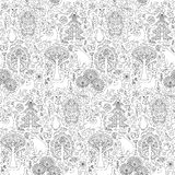 Forest seamless pattern Stock Photography