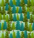 Forest seamless pattern. Fir forest. Christmas tree ornament. Forest seamless pattern. Fir forest.  Christmas tree ornament Royalty Free Stock Photos