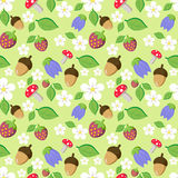 Forest seamless pattern Royalty Free Stock Photo