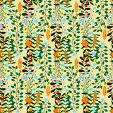 Forest seamless pattern, many plants Stock Image