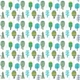 Forest seamless pattern, seamless pattern with trees Royalty Free Stock Image