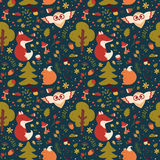 Forest seamless pattern. Vector background. vector illustration