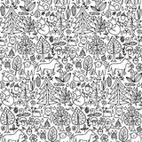 Forest seamless pattern Royalty Free Stock Image
