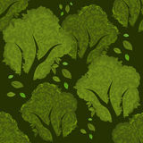 Forest seamless pattern Stock Images