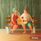 Forest Serenade Dating Background Images stock