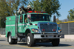Forest Service Fire Truck and Smokey Bear Royalty Free Stock Photo
