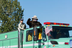 Forest Service Fire Truck and Smokey Bear Royalty Free Stock Photography