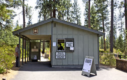 Forest Service Info Station for Lava River Cave Stock Photography