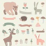Forest set vector illustration