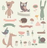 Forest set stock illustration