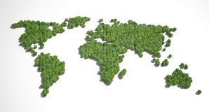 Forest shaped world map Royalty Free Stock Photo