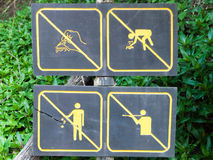 Forest signs. In Ob Luang forest in Chiang Mai, Thailand Royalty Free Stock Photo