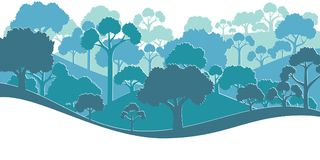 Forest silhouette. Vector illustration Royalty Free Stock Photo