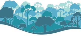 Forest Silhouette Ilustración del vector Foto de archivo libre de regalías