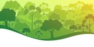 Forest silhouette. Vector illustration Royalty Free Stock Images