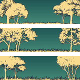 Forest silhouettes lanscapes Royalty Free Stock Photos