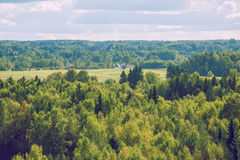 Forest from sky in Latvia, Ligatne. stock image