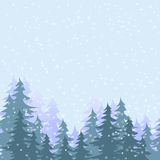 Forest in snow Royalty Free Stock Photos