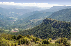 Forest of Sort. Situated in the spainish province of Lleida in pyrenees mountain. It´s  picture taken in a sunny day Stock Images