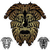 Forest spirit demon face tribal. There is forest spirit demon face Stock Photo