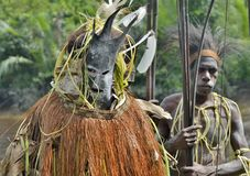 Forest spirit mask ceremony Stock Images