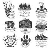 Forest Stamps Collection d'annata Immagini Stock Libere da Diritti