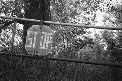 Forest stop gate Stock Photography