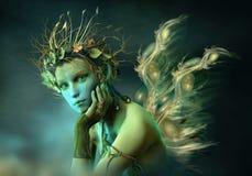 Forest Sylph pequeno, 3d CG ilustração do vetor