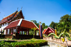 Forest Temple thai. Thailand is located in front of the temple of art from community forests Royalty Free Stock Photography