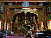 Forest temple Wat Phra Phutthabat Si Roi / Chiang Mai, Thailand. Buddha Wat Temple Buddhism Gold decoration Royalty Free Stock Photos