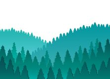 Forest theme image 1 Stock Image
