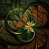 Forest themed fractal flower or butterfly Stock Photo